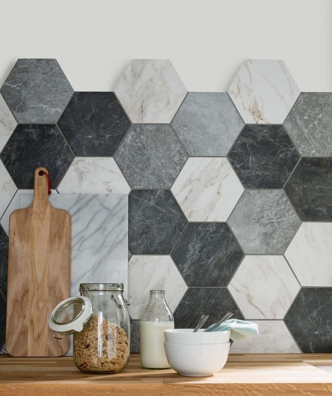 Hexagon Tiles Bathroom With Staggering Hexagonal Tiles Walls Floors Topps Tiles For Elegant Hexagon Tiles Bathroom